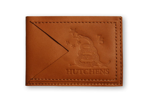 Leather Card Wallet - Golden Ochre
