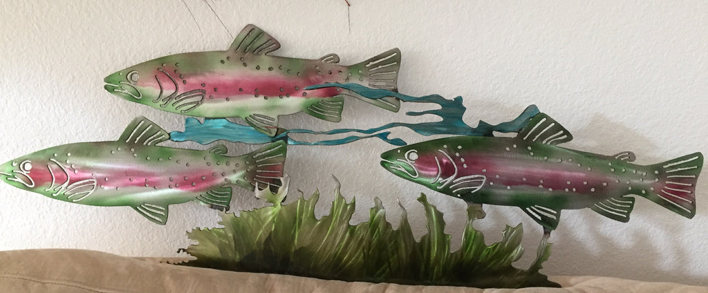 Up Stream - New Salmon Art Piece