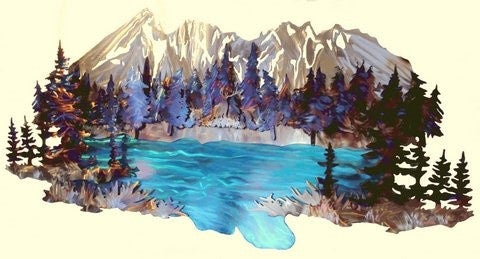 Broken Top and Todd Lake - STS Metal Art Designs
