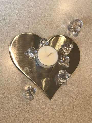 Metal Wall Art - Heart, heart wall decor, silver heart, valentines heart, wedding, candle holder, anniversary, valentines sign