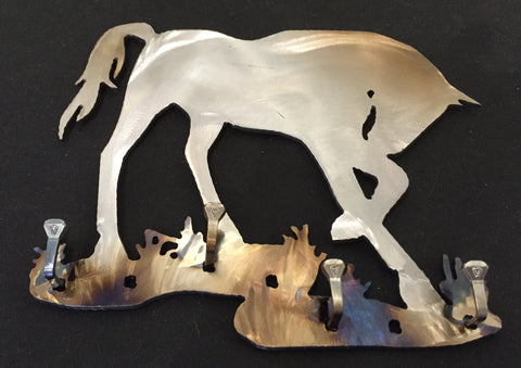 Metal Wall Art - Horse Key Rack