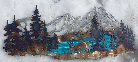 Three Sisters Wilderness - STS Metal Art Designs