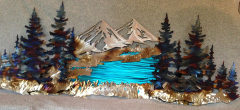 High Mountain Lake - STS Metal Art Designs