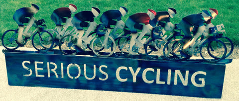 Serious Cycling Business Sign - STS Metal Art Designs