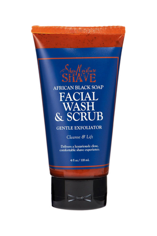 SheaMoisture for Men Facial Wash & Scrub 4oz