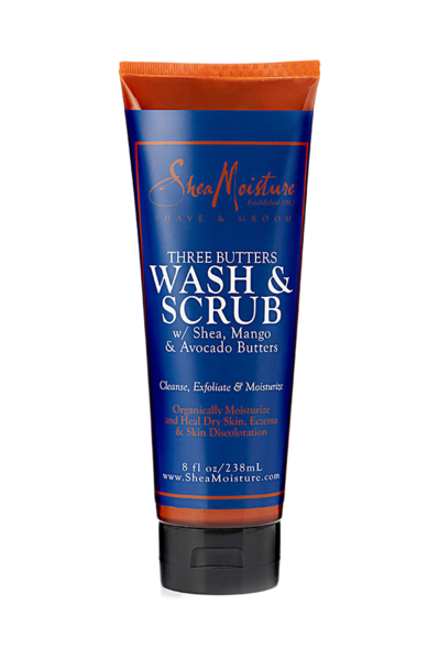 SheaMoisture for Men Shea, Mango & Avocado Butters Wash & Scrub 8 oz