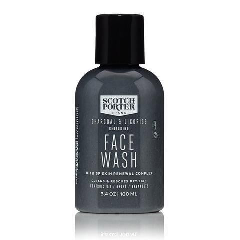 Scotch Porter Charcoal & Liquorice Restoring Face Wash