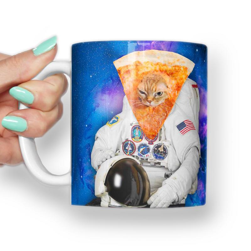 PIZZA CAT FROM SPACE MEME MUG