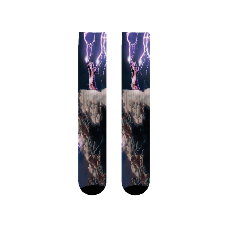 LIGHTNING CAT SOCKS
