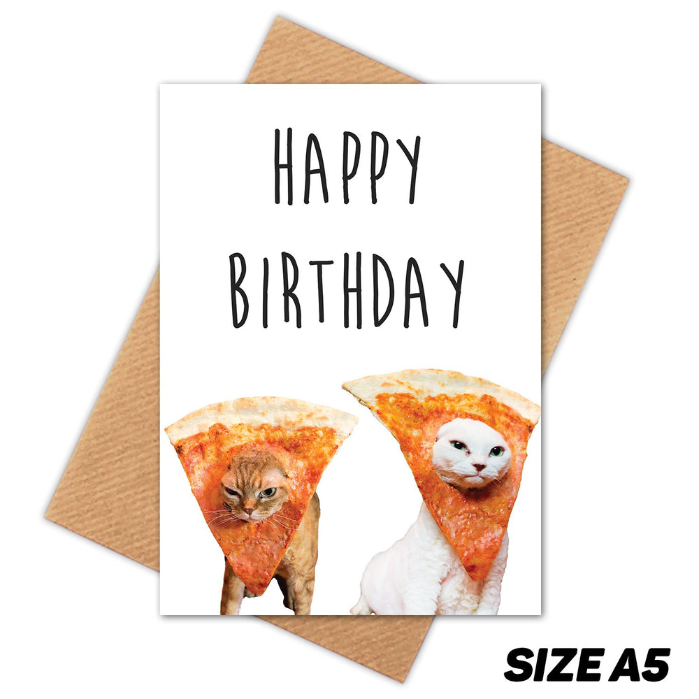 PIZZA CATS HAPPY BIRTHDAY CARD