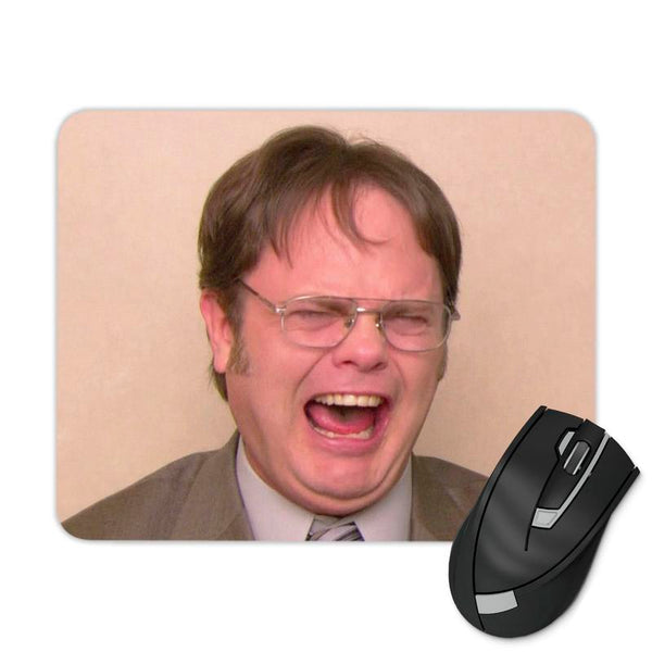 DWIGHT LAUGHING MOUSE PAD