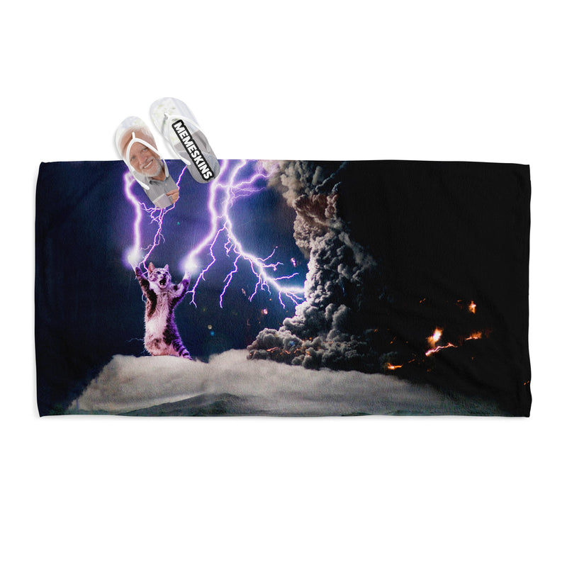 CAT LIGHTNING CAT TOWEL
