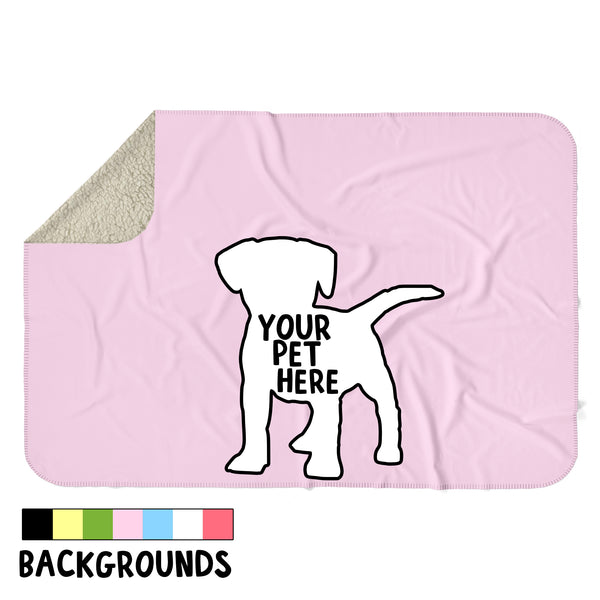 CUSTOM PET BLOCK BACKGROUND SHERPA BLANKET