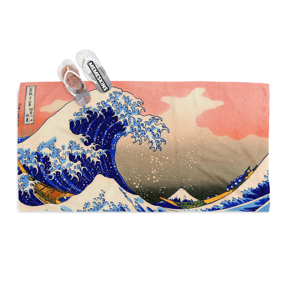 GREAT WAVE OFF KANAGAWA TOWEL