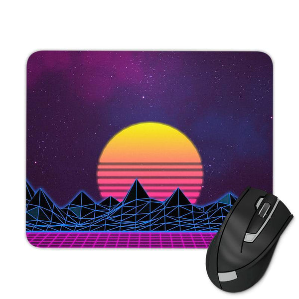 VAPORWAVE SUNSET MOUSE PAD