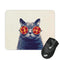 PIZZA CAT GLASSES MOUSE PAD