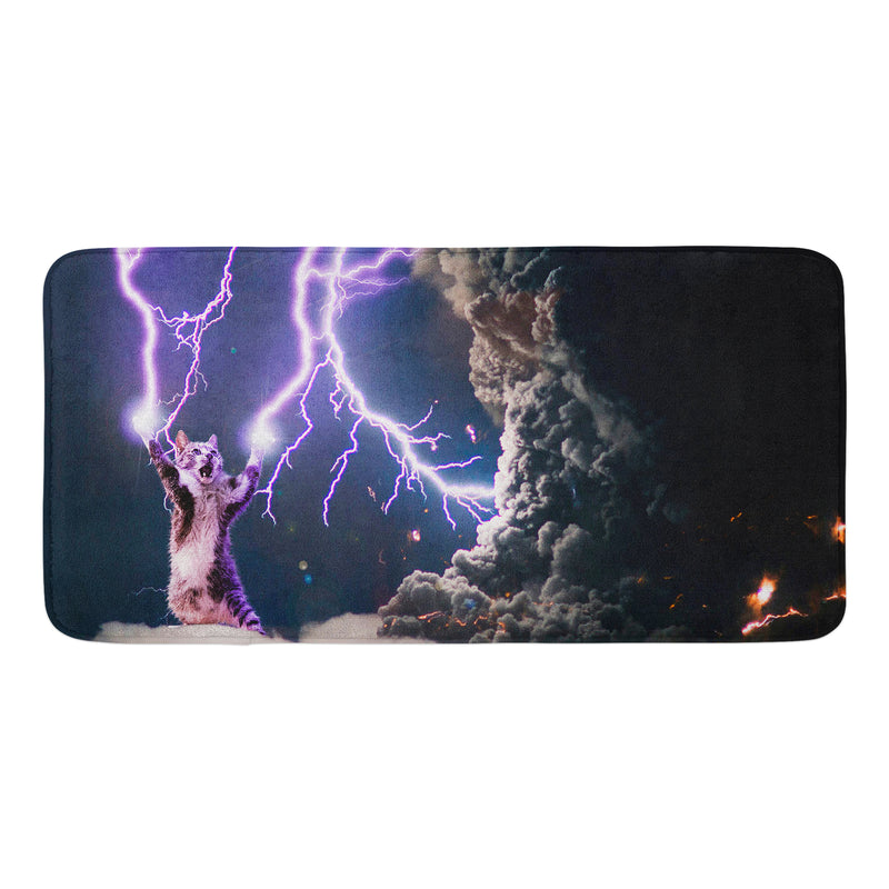LIGHTNING CAT BATH MAT
