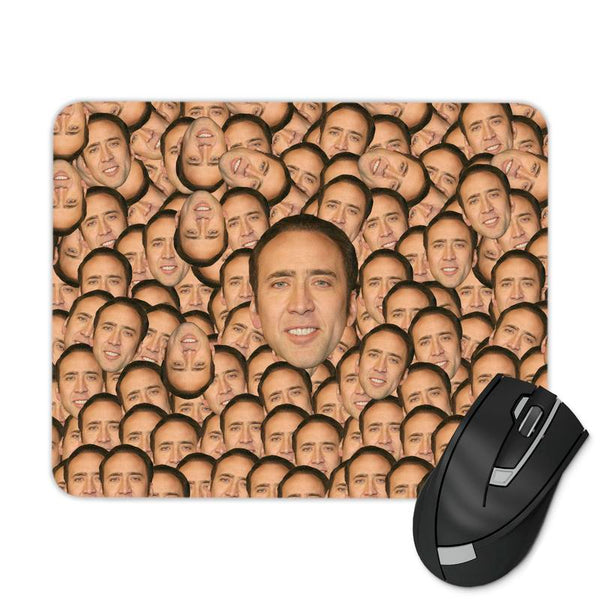 NICOLAS CAGE FACE MULTIPLIED MOUSE PAD