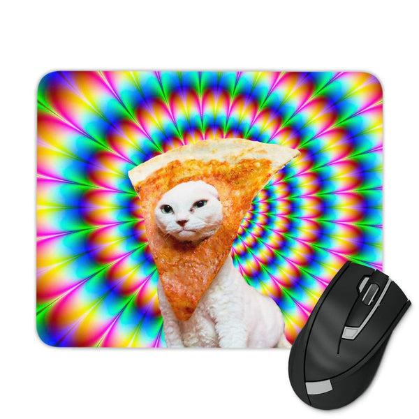 TRIPPY PIZZA CAT MOUSE PAD