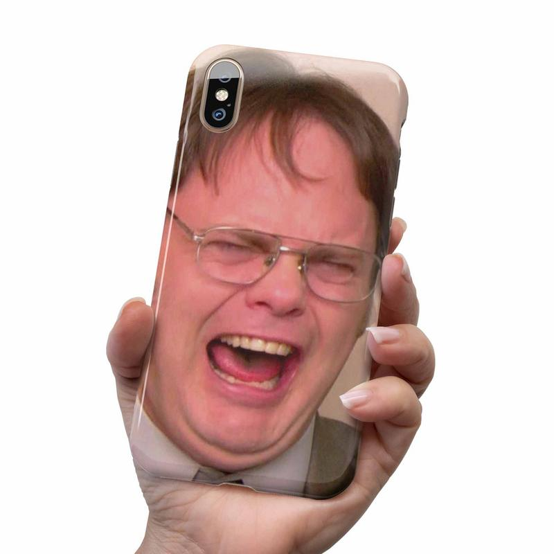 DWIGHT SCHRUTE LAUGHING PHONE CASE
