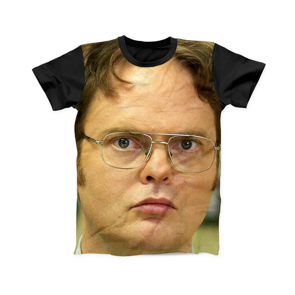 DWIGHT SCHRUTE FACE FULL PRINT TSHIRT