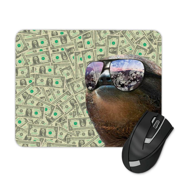 MONEY SLOTH MOUSE PAD