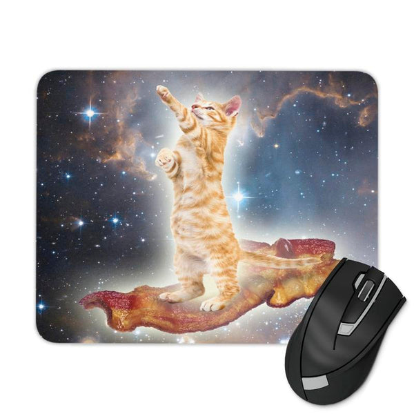 BACON SPACE CAT MOUSE PAD