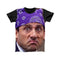 PRISON MIKE PURPLE BANDANA FULL PRINT TSHIRT