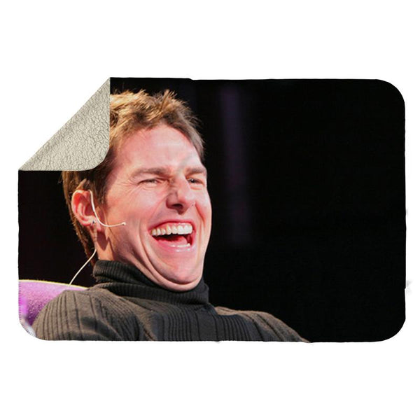 LAUGHING TOM CRUISE SHERPA BLANKET