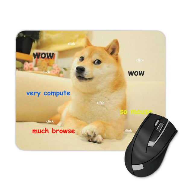 DOGE MOUSEPAD TEXT MOUSE PAD