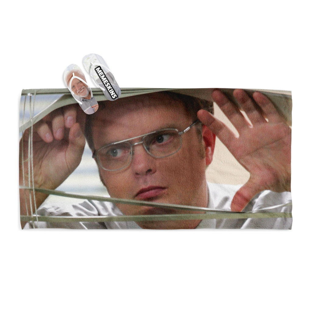 DWIGHT SCHRUTE WINDOW TOWEL