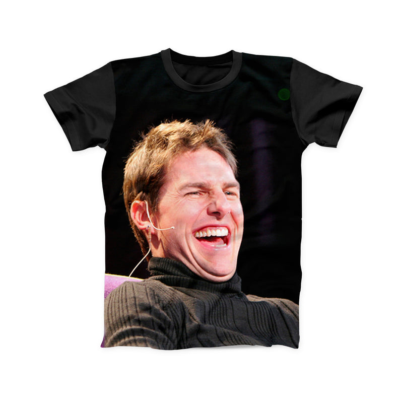 TOM CRUISE LAUGHING FULL PRINT TSHIRT