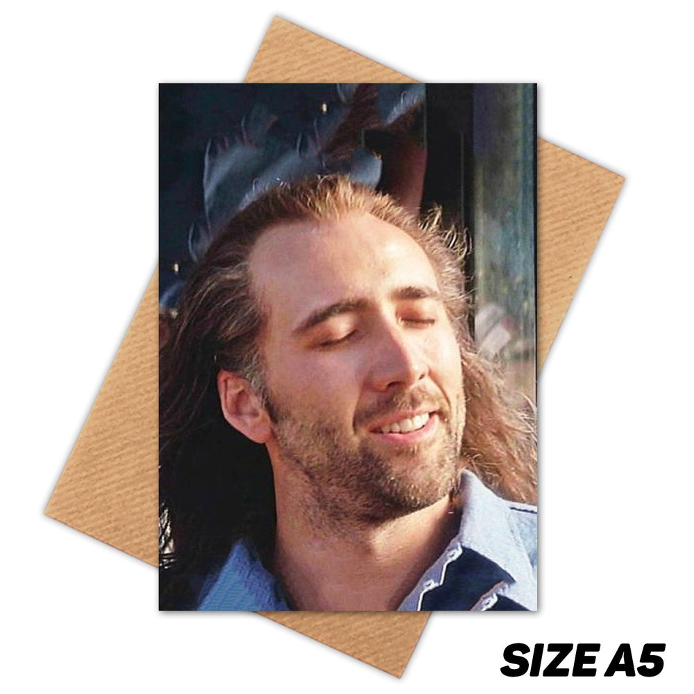 AIR CON NICOLAS CAGE HAPPY BIRTHDAY CARD