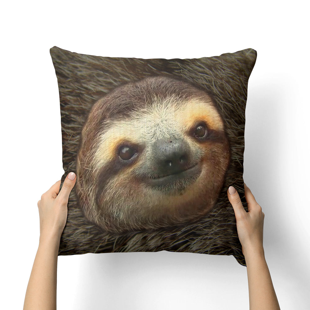 SLOTH CANVAS PILLOW