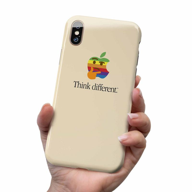 APPLE LOGO THINK DIFFERENT PHONE CASE