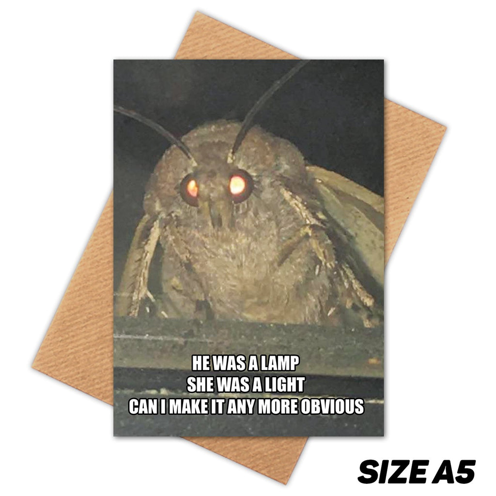 MOTH MEME HAPPY BIRTHDAY CARD