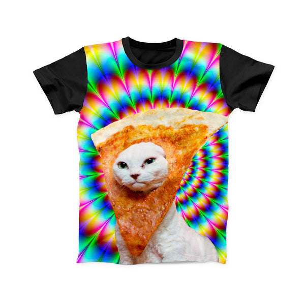 PIZZA CAT TRIPPY FULL PRINT TSHIRT