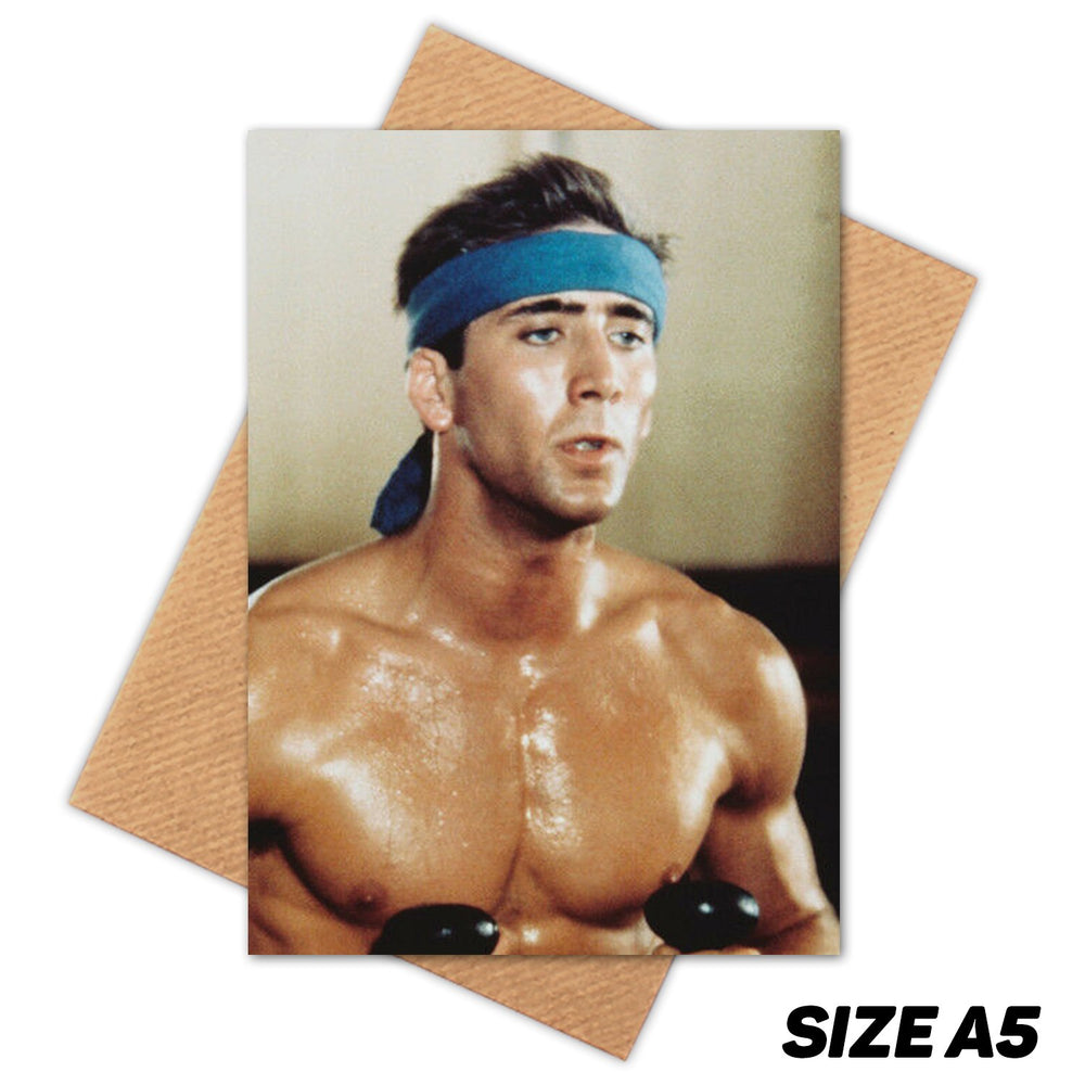 SEXY NICOLAS CAGE HAPPY BIRTHDAY CARD