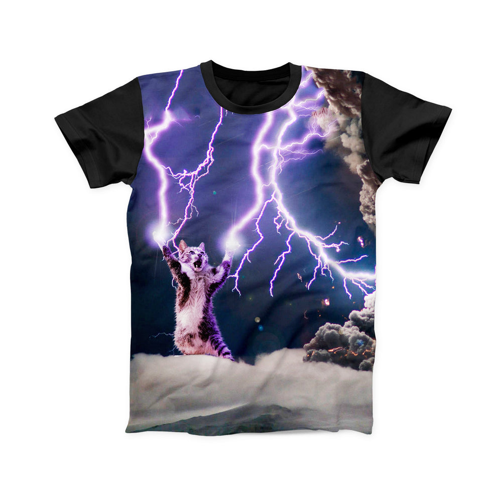 LIGHTNING CAT FULL PRINT TSHIRT