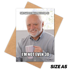 HAROLD MEME HAPPY BIRTHDAY CARD