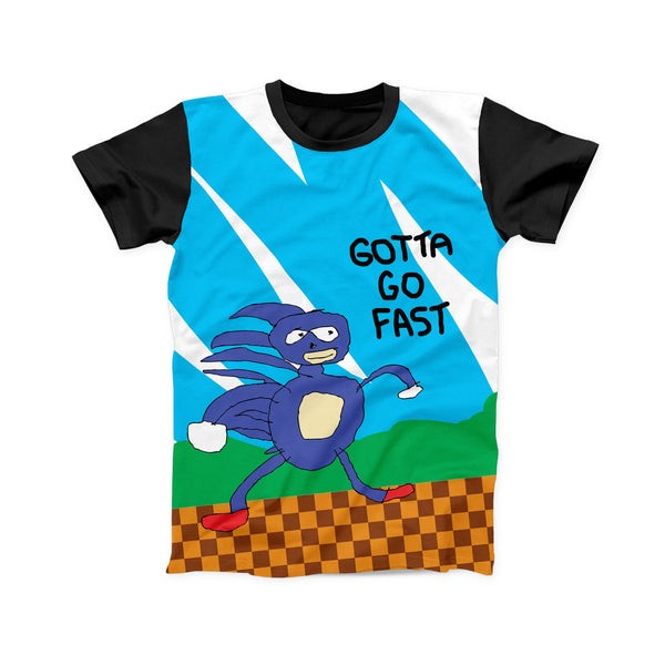 SANIC THE HEDGEHOG FULL PRINT TSHIRT