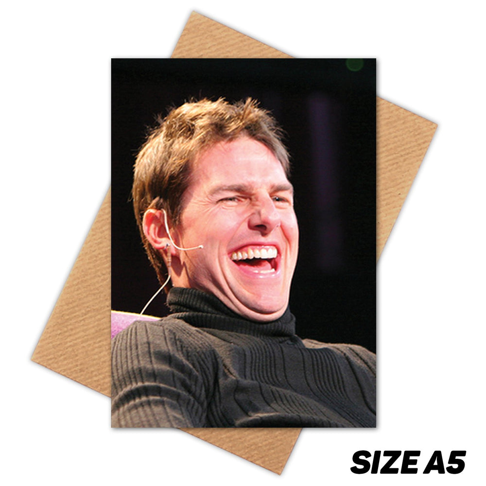 TOM CRUISE LAUGHING HAPPY BIRTHDAY CARD