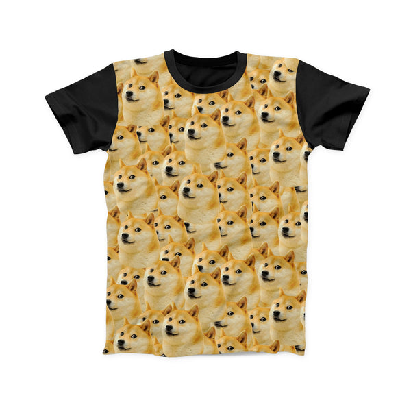 DOGES EVERYWHERE FULL PRINT TSHIRT