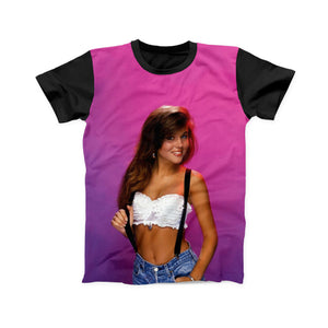 KELLY KAPOWSKI SAVED BY THE BELL FULL PRINT TSHIRT