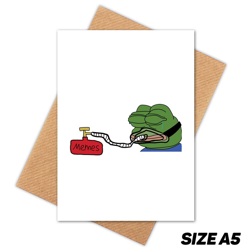 MEME PEPE HAPPY BIRTHDAY CARD