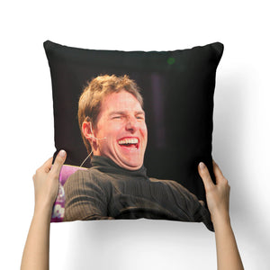 TOM CRUISE LAUGHING CANVAS PILLOW