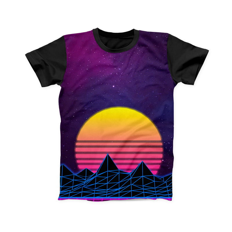 VAPRWAVE SUNSET FULL PRINT TSHIRT