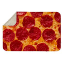 PEPPERONI PIZZA SHERPA BLANKET