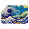 GREAT WAVE OFF KANAGAWA VAN GOGH STARRY NIGHT SHERPA BLANKET