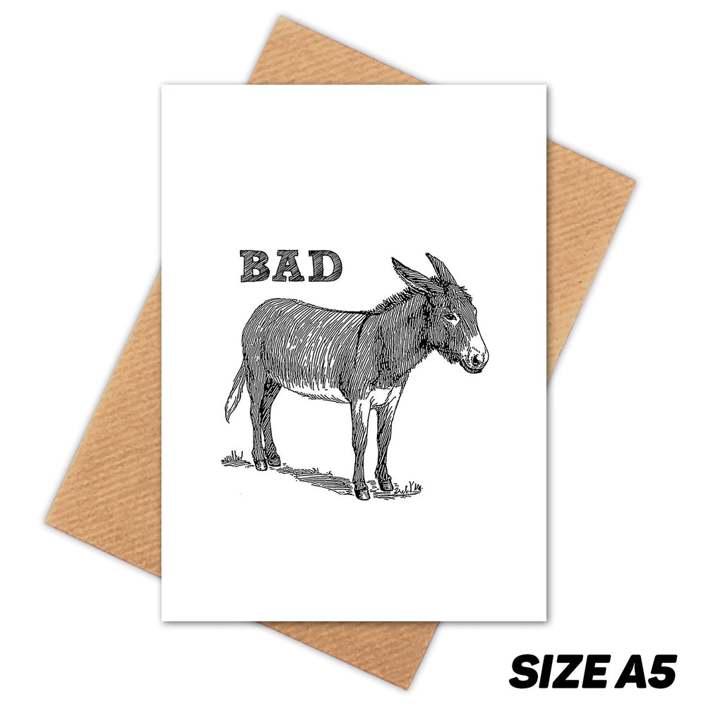 BAD ASS DONKEY HAPPY BIRTHDAY CARD